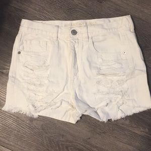 Ripped white Jean shorts